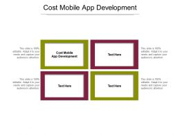 Cost Mobile App Development Ppt Powerpoint Presentation Summary Infographics Cpb