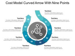 Cost Model Curved Arrow With Nine Points
