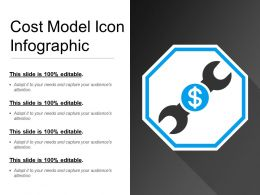 Cost Model Icon Infographic