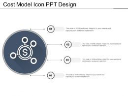 Cost Model Icon Ppt Design