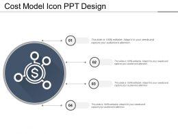 Cost Model Icon Ppt Design
