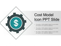 Cost Model Icon Ppt Slide