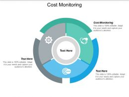 Cost Monitoring Ppt Powerpoint Presentation Icon Background Cpb