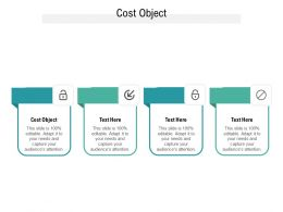 Cost Object Ppt Powerpoint Presentation Infographic Template Designs Cpb