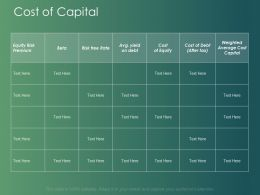 Cost Of Capital Compare Ppt Powerpoint Presentation Model Designs Download