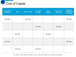 Cost Of Capital Cost Of Equity Ppt Summary Designs Download