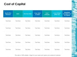 Cost Of Capital Ppt Icon Topics