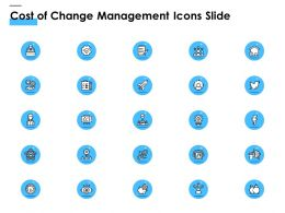 Cost Of Change Management Icons Slide Ppt Powerpoint Presentation Infographic