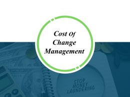 Cost Of Change Management Ppt Background Template