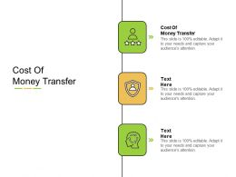 Cost Of Money Transfer Ppt Powerpoint Presentation Summary Styles Cpb