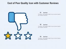 Cost Of Poor Quality Icon With Customer Reviews
