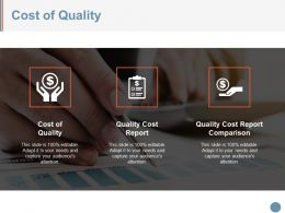 Cost Of Quality Sample Presentation Ppt