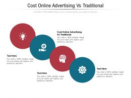 Cost Online Advertising Vs Traditional Ppt Powerpoint Presentation Gallery Display Cpb