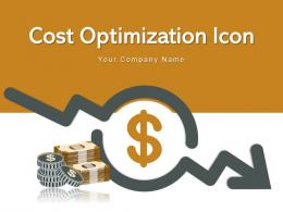 Cost Optimization Icon Business Process Digitalization Gear Circular Arrows Increasing