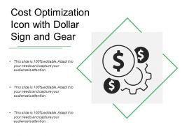 Cost Optimization Icon With Dollar Sign And Gear