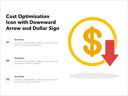Cost Optimization Icon With Downward Arrow And Dollar Sign