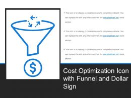 Cost Optimization Icon With Funnel And Dollar Sign