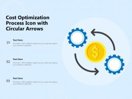 Cost Optimization Process Icon With Circular Arrows