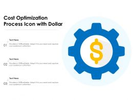 Cost Optimization Process Icon With Dollar