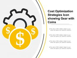 Cost Optimization Strategies Icon Showing Gear With Coins