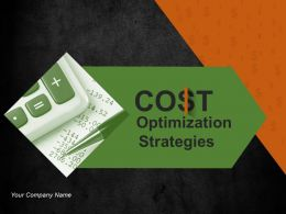 Cost Optimization Strategies Powerpoint Presentation Slides