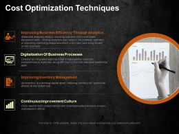 Cost Optimization Techniques Ppt Visual Aids Background Images