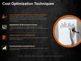 Cost Optimization Techniques Ppt Visual Aids Background Images