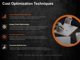 Cost Optimization Techniques Ppt Visual Aids Infographic Template