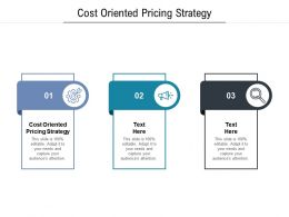 Cost Oriented Pricing Strategy Ppt Powerpoint Presentation Model Good Cpb