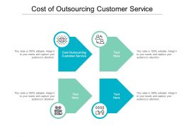 Cost Outsourcing Customer Service Ppt Powerpoint Presentation Professional Outline Cpb