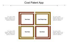 Cost Patent App Ppt Powerpoint Presentation Portfolio Background Image Cpb