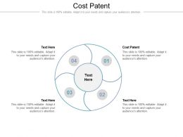 Cost Patent Ppt Powerpoint Presentation Show Templates Cpb