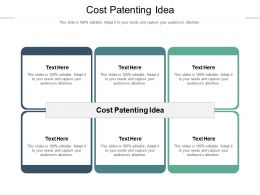 Cost Patenting Idea Ppt Powerpoint Presentation Layouts Example Topics Cpb