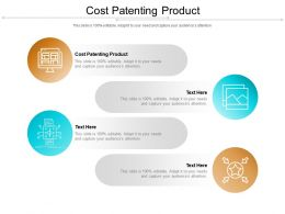 Cost Patenting Product Ppt Powerpoint Presentation Portfolio Layout Cpb