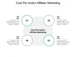 Cost Per Action Affiliate Marketing Ppt Powerpoint Presentation Summary Outline