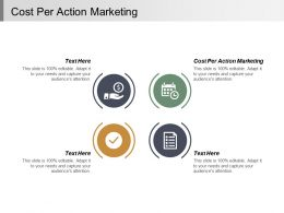 Cost Per Action Marketing Ppt Powerpoint Presentation Infographic Template Professional Cpb