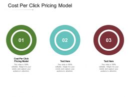Cost Per Click Pricing Model Ppt Powerpoint Presentation Portfolio Summary Cpb