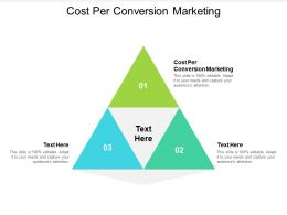 Cost Per Conversion Marketing Ppt Powerpoint Presentation Styles Icons Cpb
