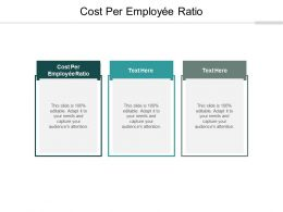 Cost Per Employee Ratio Ppt Powerpoint Presentation Show Vector Cpb