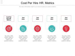 Cost Per Hire HR Metrics Ppt Powerpoint Presentation Portfolio Background Images Cpb