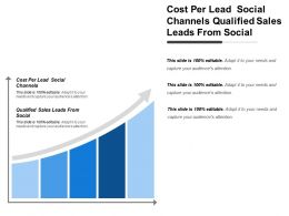Cost Per Lead Social Channels Qualified Sales Leads From Social