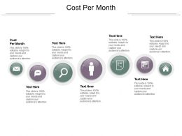 Cost Per Month Ppt Powerpoint Presentation Professional Maker Cpb