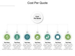 Cost Per Quote Ppt Powerpoint Presentation Icon Infographics Cpb