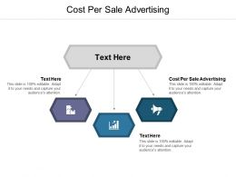Cost Per Sale Advertising Ppt Powerpoint Presentation Layouts Professional Cpb