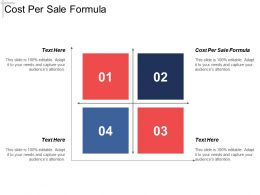 Cost Per Sale Formula Ppt Powerpoint Presentation Layouts Information Cpb