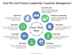 Cost Per Unit Product Leadership Customer Management Processes