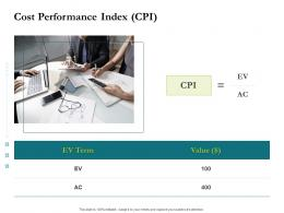 Cost Performance Index CPI Project Success Metrics Ppt Infographics Background Image