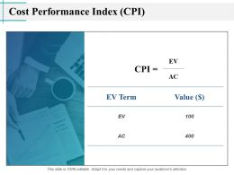 Cost Performance Index CPI Value Ppt Powerpoint Presentation Slides Layout