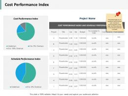 Cost Performance Index Ppt Infographics Graphic Images
