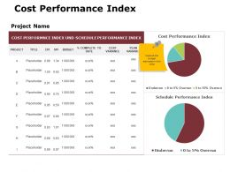 Cost Performance Index Ppt Powerpoint Presentation Gallery Design Ideas